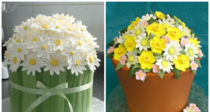 Top Cakes with Daisies