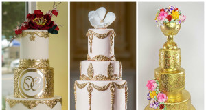 20+ Magnificent Gold Wedding Cakes