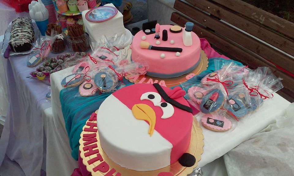 Angry Bird and Make Up Tools for Two Brothers