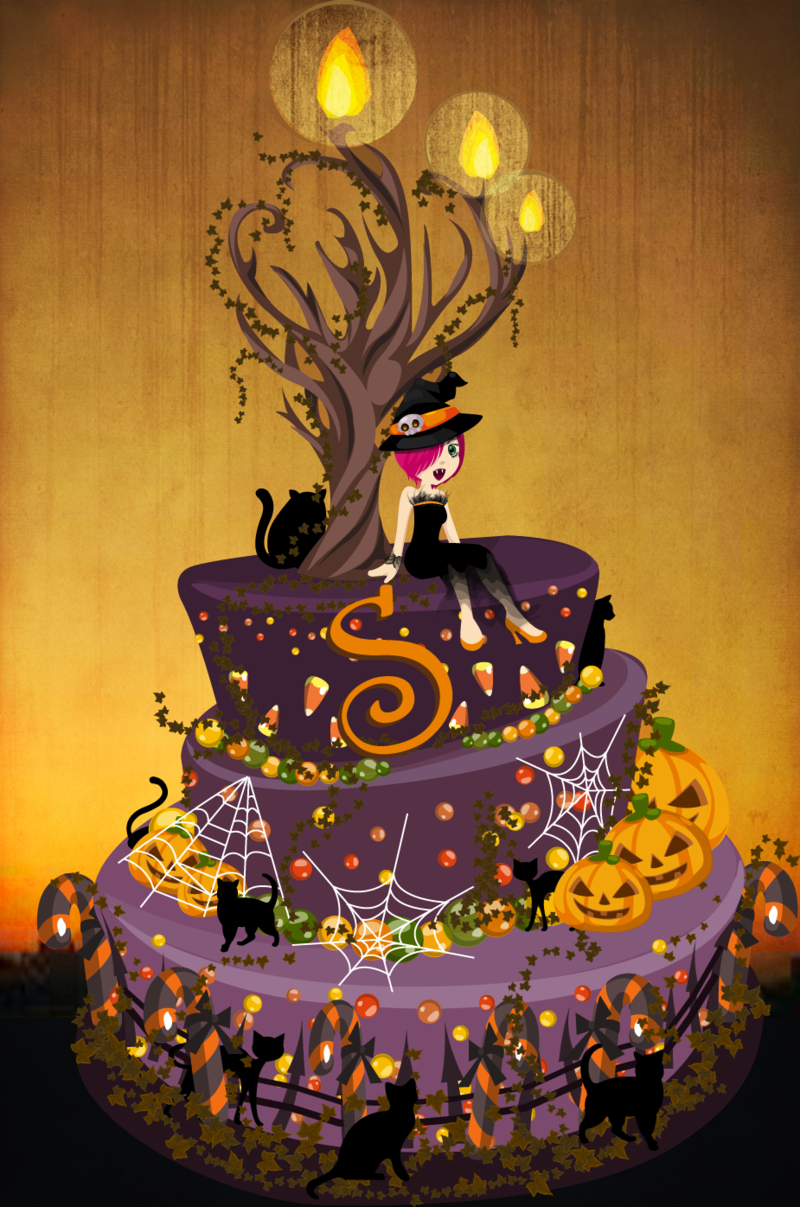 Creepy Halloween Birthday Cakes