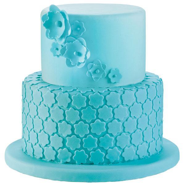 Blue Blossoms Cake