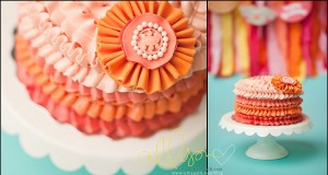 Buttercream Ruffled Smash Cake