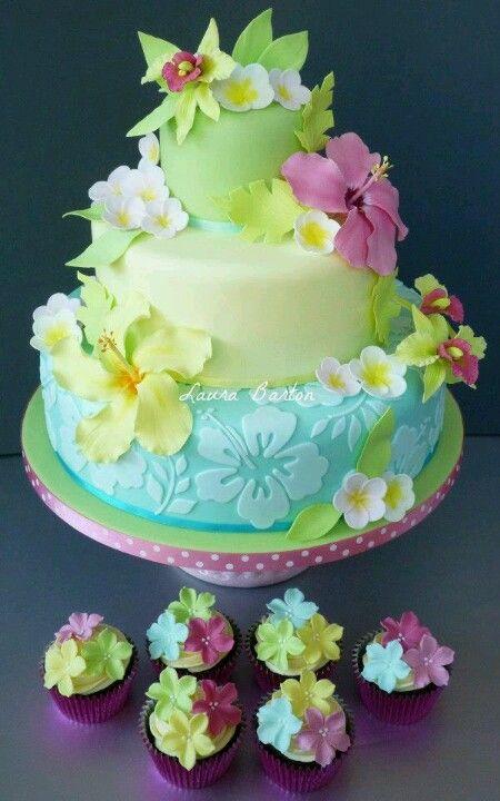 Colorful Hawaii Cake Amazing Cake Ideas
