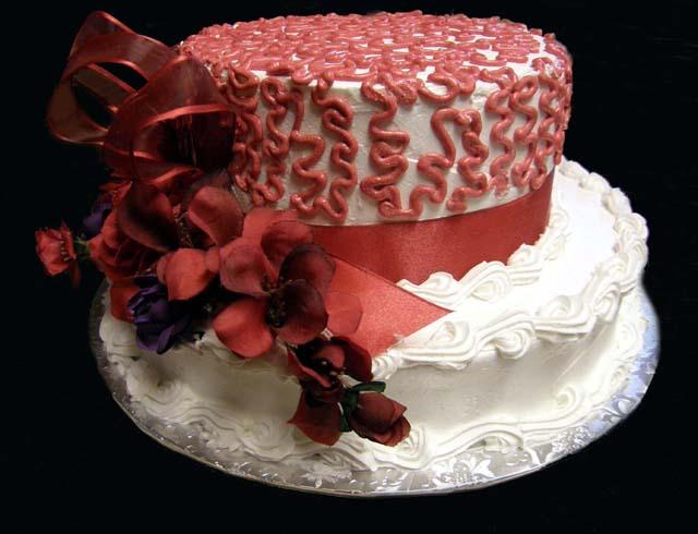 Elegant Red Hat Cake