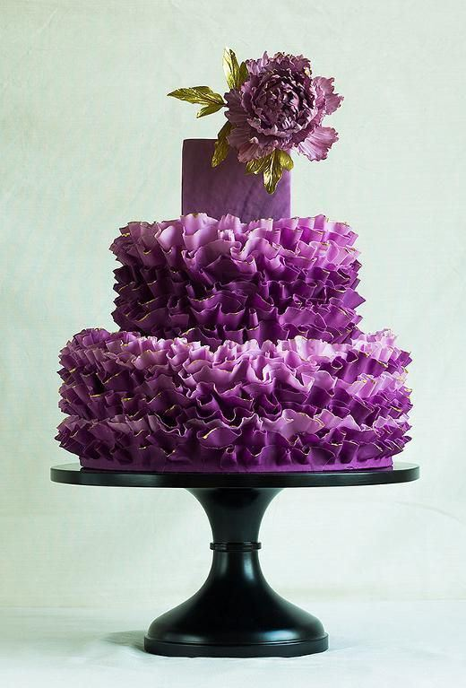 Lavender Wedding Cake - Chocolate Inside
