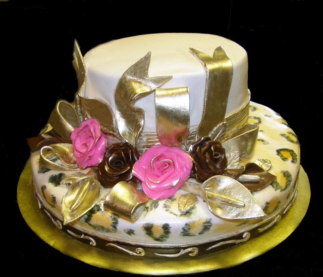 Leopard Print Hat Cake