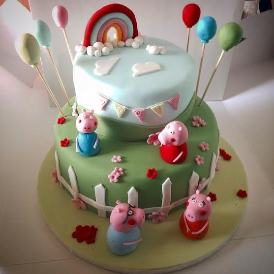 Little Peppa and the Family Cake