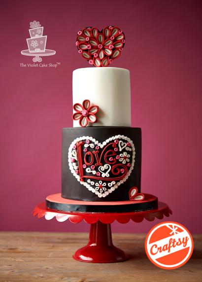 Modern Love Heart Cake