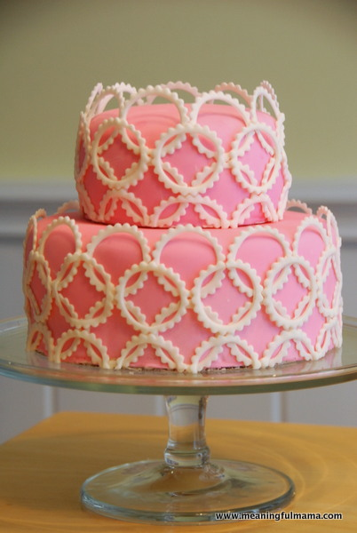 Pink Geometric Cake