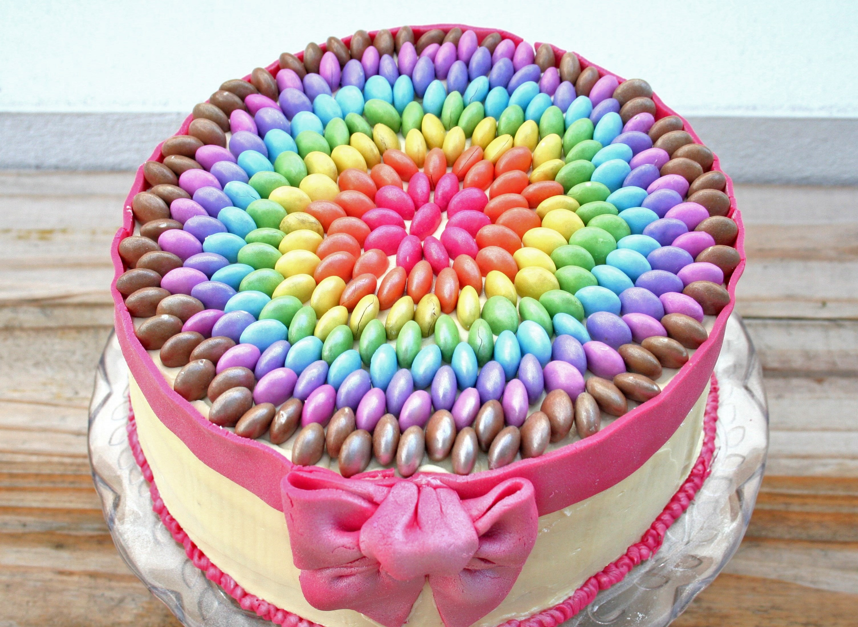 Cake Decorated With Smarties
