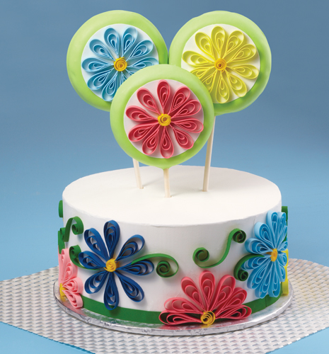 Quilled Cake Cookie Topper