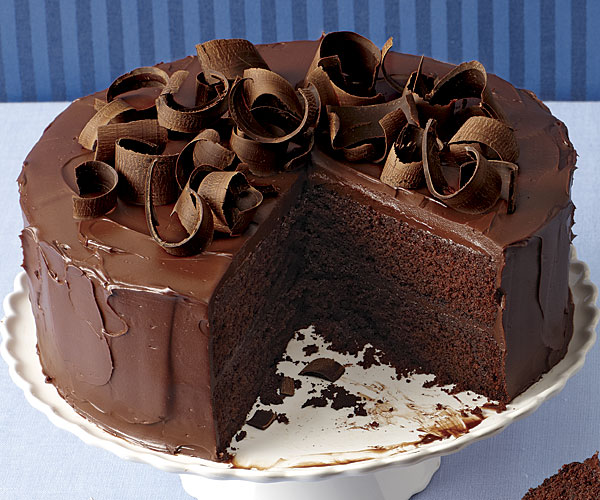 Romantic Chocolate Ganache Cake
