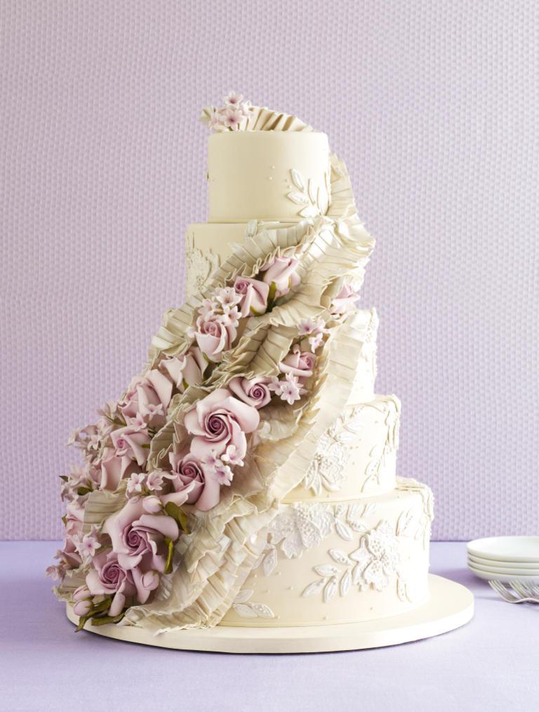 Ruffled roses amazing cake ideas ruffled roses junglespirit Choice Image