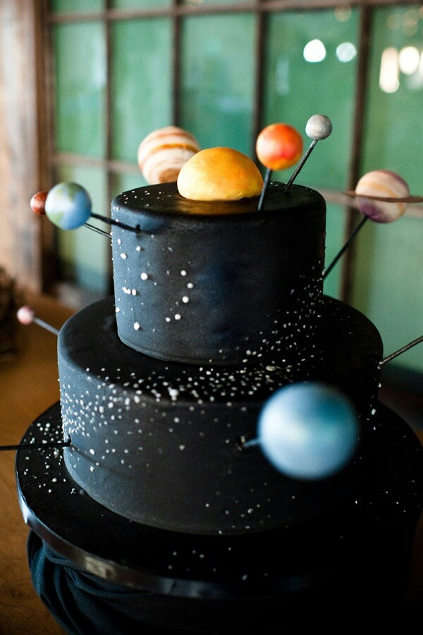 Solar System Wedding Cake