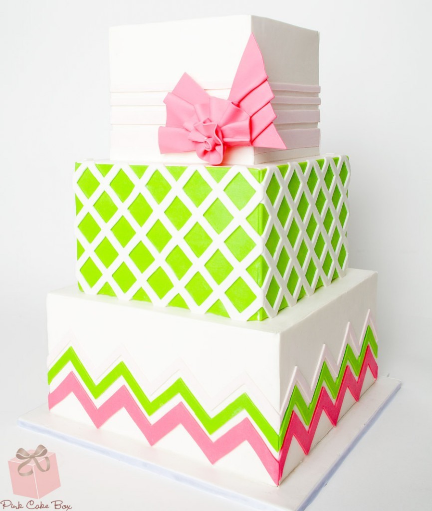 Super Pretty Geometric Cake
