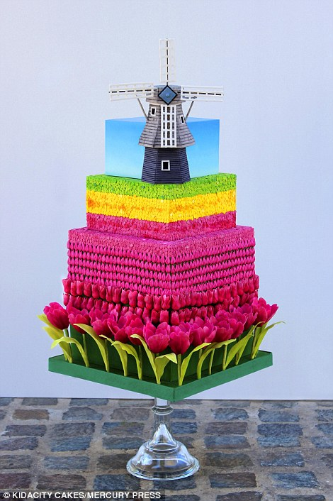 Tulips from Amsterdam The cake representing the Netherlands