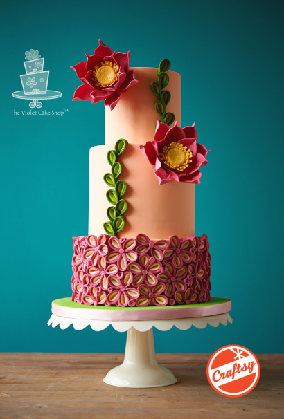 Two-Toned Petal Floral Inspired Cake
