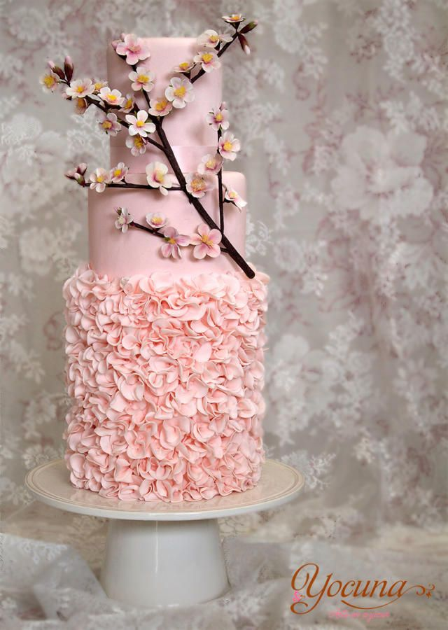 Vintage Cake with Cherry Branch Amazing Cake Ideas