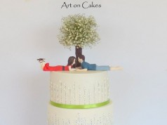 Wedding Invitation Card Cake