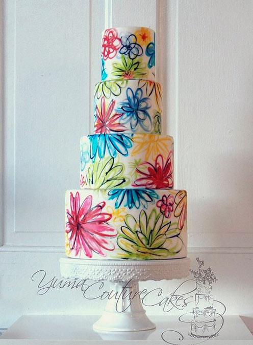 Vintage Pattern Cake