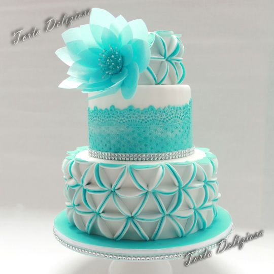 Aqua Blue Wedding Cake Designs