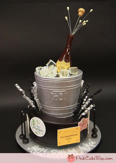 Awe Inspiring Champagne Silver Bucket Cake Amazing Cake Ideas Funny Birthday Cards Online Hetedamsfinfo
