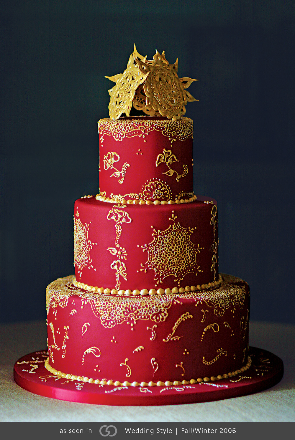 Indian Red Wedding Cake Amazing Cake Ideas