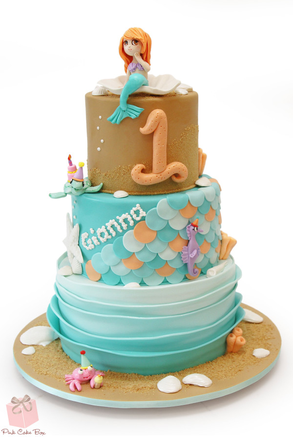 Mermaid First Birthday Cake Amazing Cake Ideas