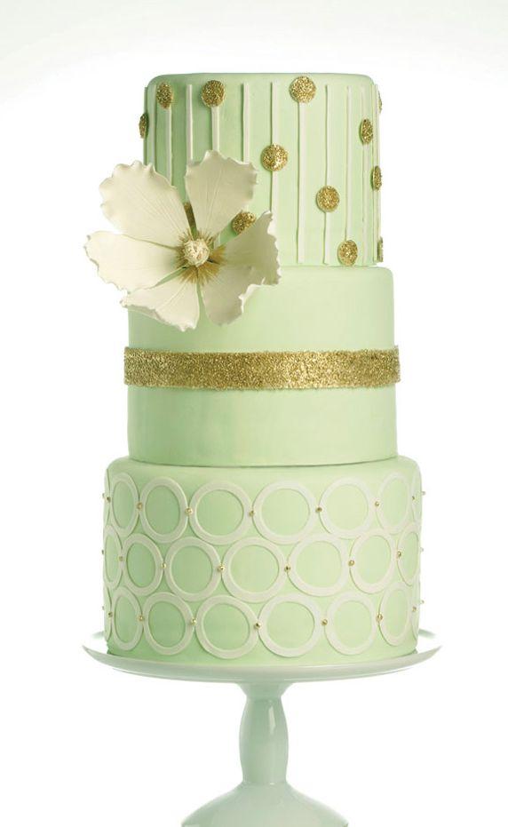 Mint and Gold Wedding Cake - Amazing Cake Ideas