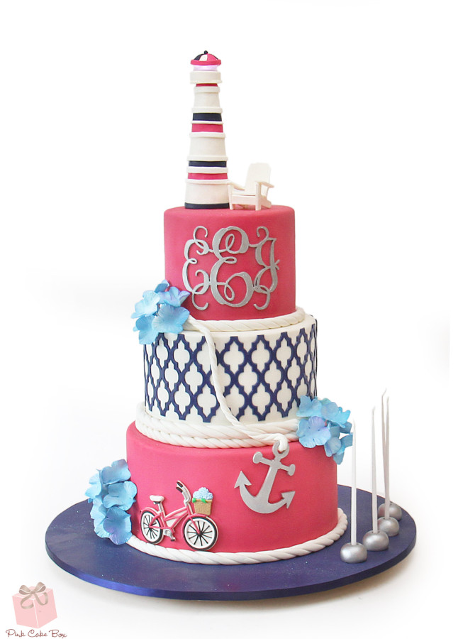 Wondrous Nautical Themed Bat Mitzvah Cake Amazing Cake Ideas Personalised Birthday Cards Sponlily Jamesorg