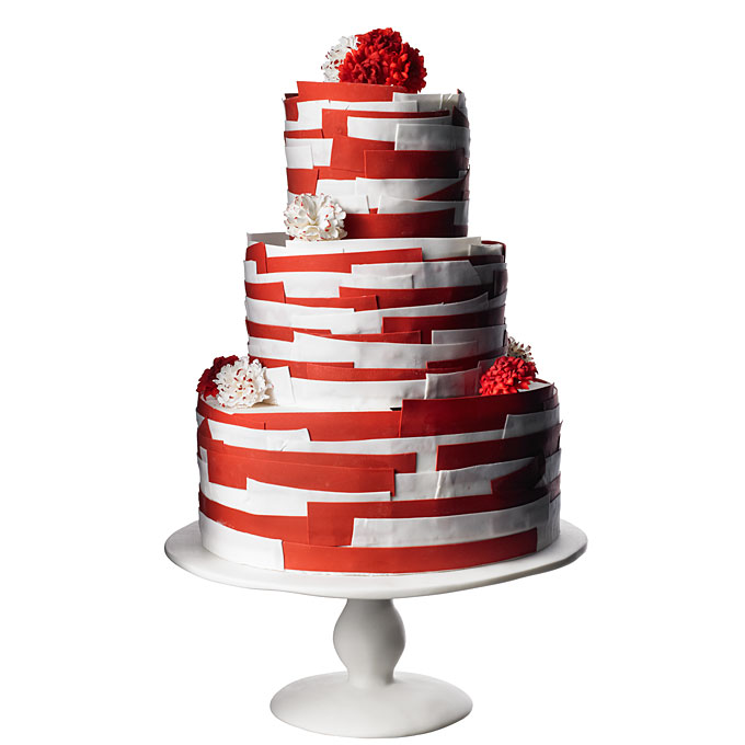 Red And White Tiered Wedding Cake Amazing Cake Ideas