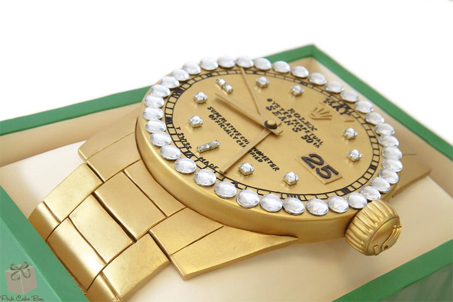 Rolex Watch Birthday Cake