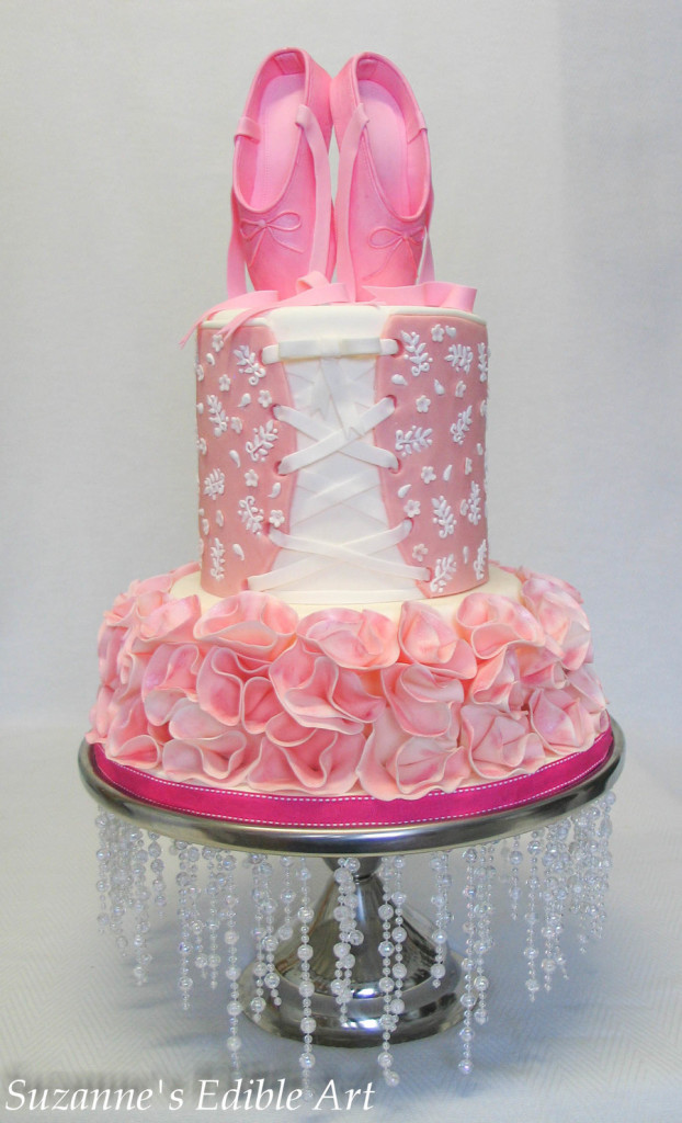 Sugar Shoes Sparkly Fondant Cake