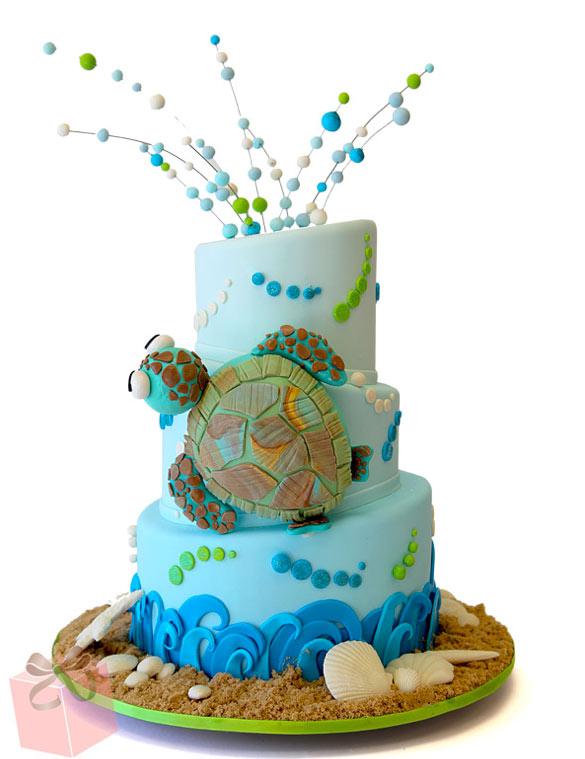 Phenomenal Turtle Under The Sea Cake Amazing Cake Ideas Funny Birthday Cards Online Overcheapnameinfo