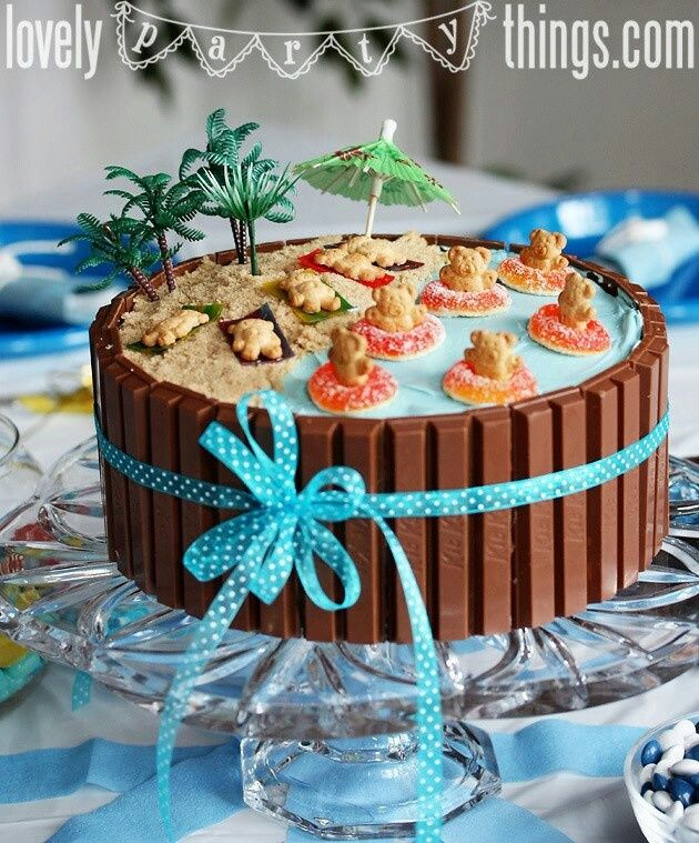 Terrific Beach Themed Party Cake Amazing Cake Ideas Birthday Cards Printable Trancafe Filternl