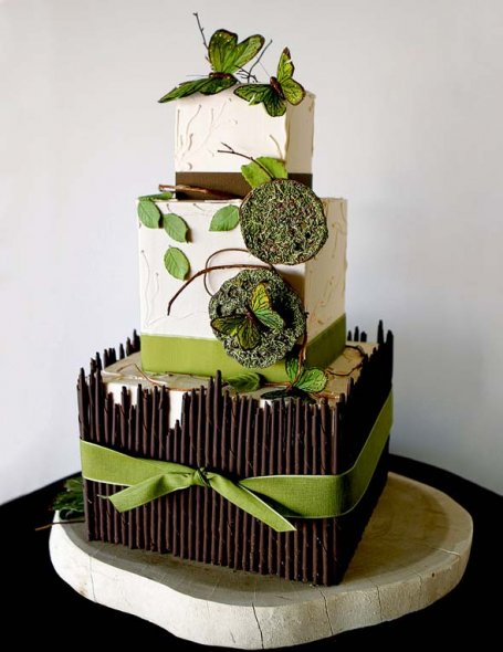 Beautiful Garden Cake