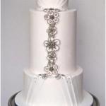 Beautiful Jewelled Wedding Cake