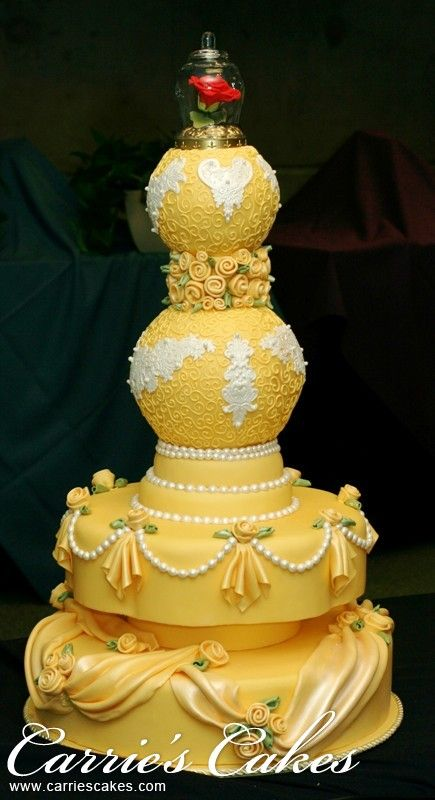 Beauty And The Beast Wedding Cakes - Wedding Cake Flavors