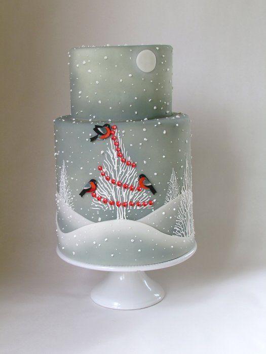 Cake with Christmas Prints