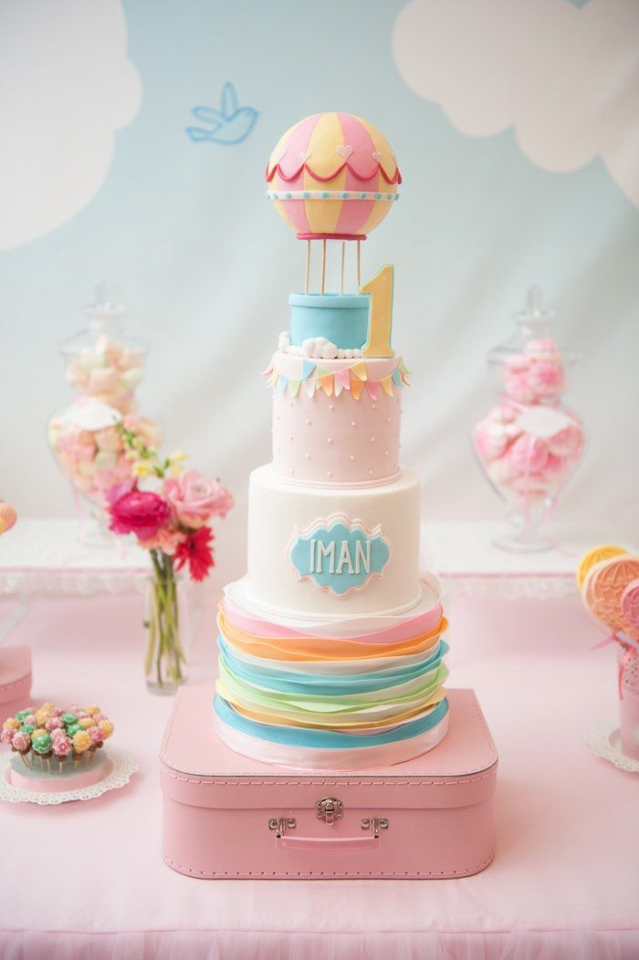 Carried Away Hot Air Balloon Birthday Party Cake Amazing Cake Ideas