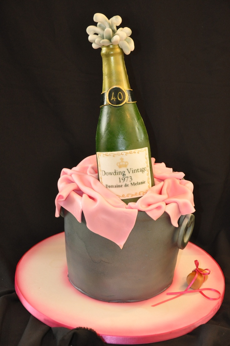 Champagne Bottle In A Bucket Cake Amazing Cake Ideas