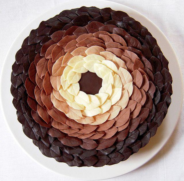 Chocolate Leaves Cake Amazing Cake Ideas