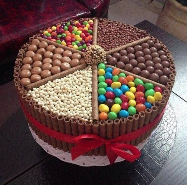 Colorful Chocolate Cake