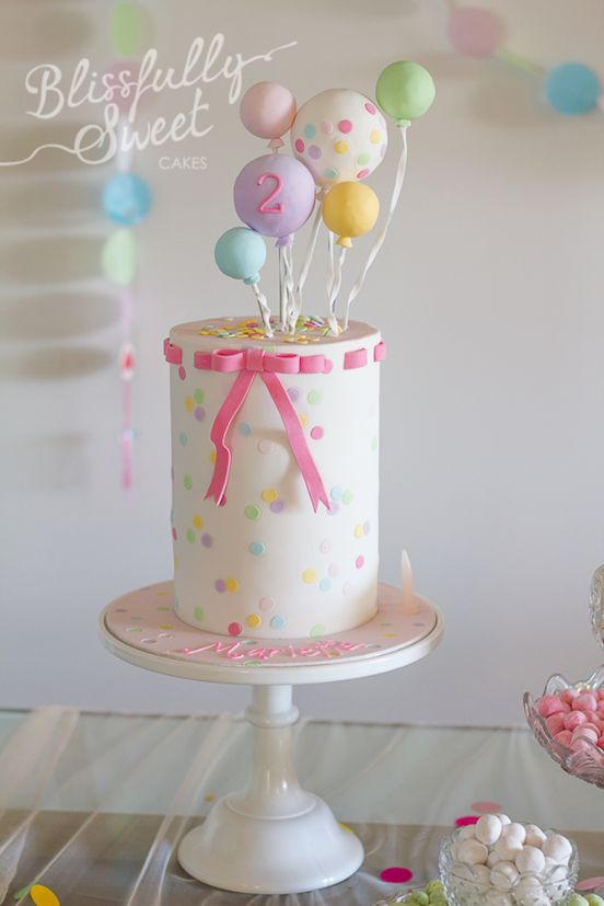 Confetti And Balloons Birthday Cake By Blissfully Sweet Amazing