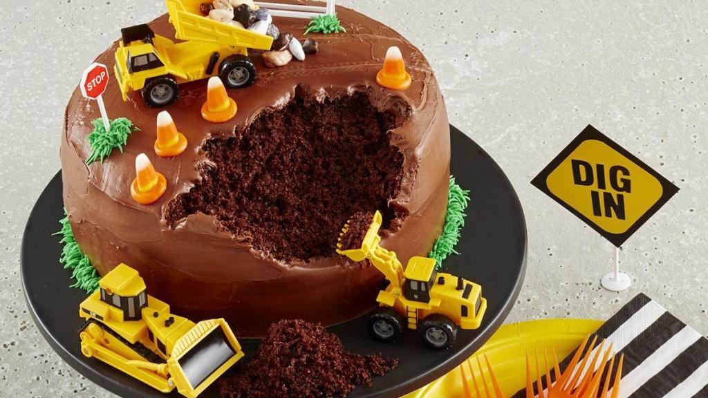 Construction Site Cake