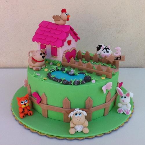 Cute Children's Birthday Cake