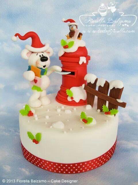 Cute Christmas Bear Cake Amazing Cake Ideas