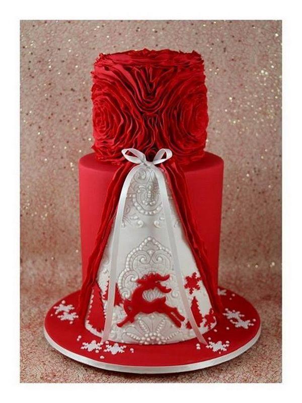 Deer Christmas Cake