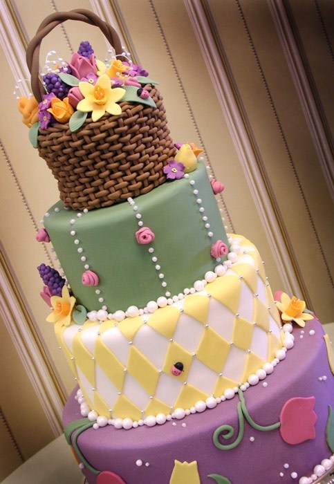 Flower Basket Easter Cake Amazing Cake Ideas