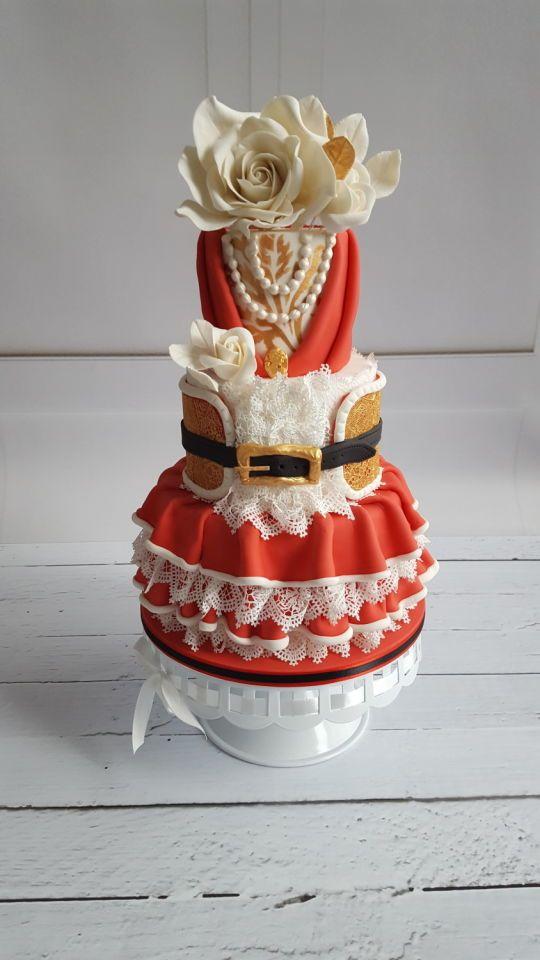 Mommy Santa Christmas cake